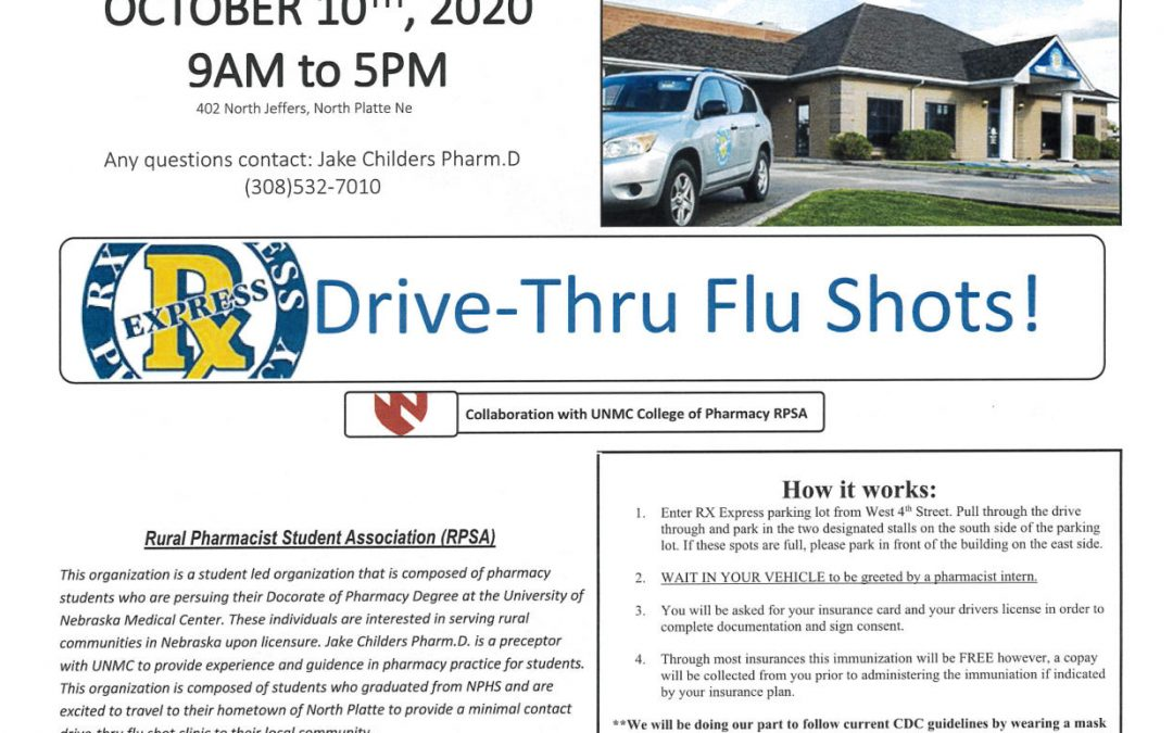 Drive – Thru Flu Shots!
